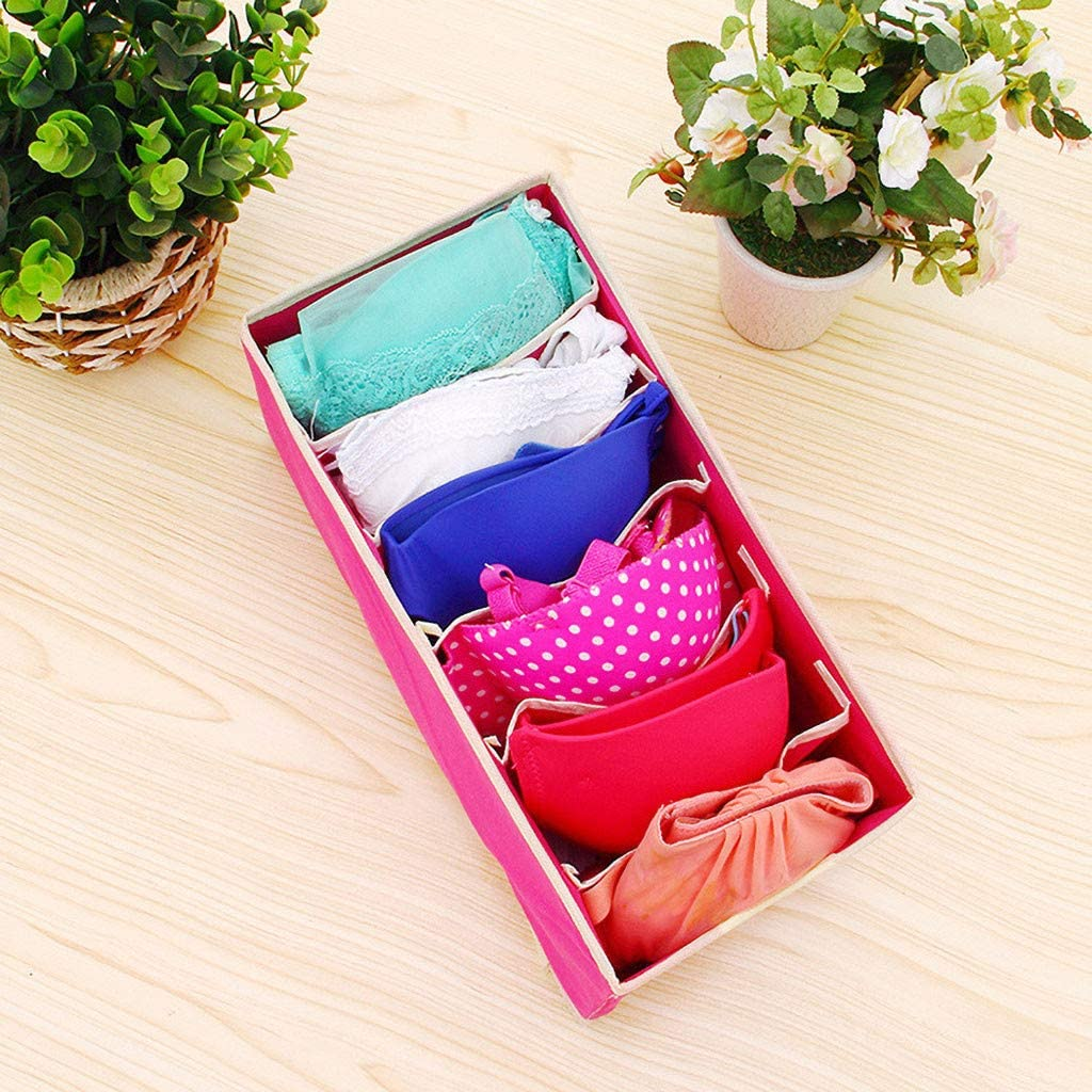 LEEDY Schrank Unterw/äsche Organizer Schublade Teilen Sie F/ür Unterw/äsche BH Socken Krawatten Multifunktionale Faltbare Aufbewahrungsbox A