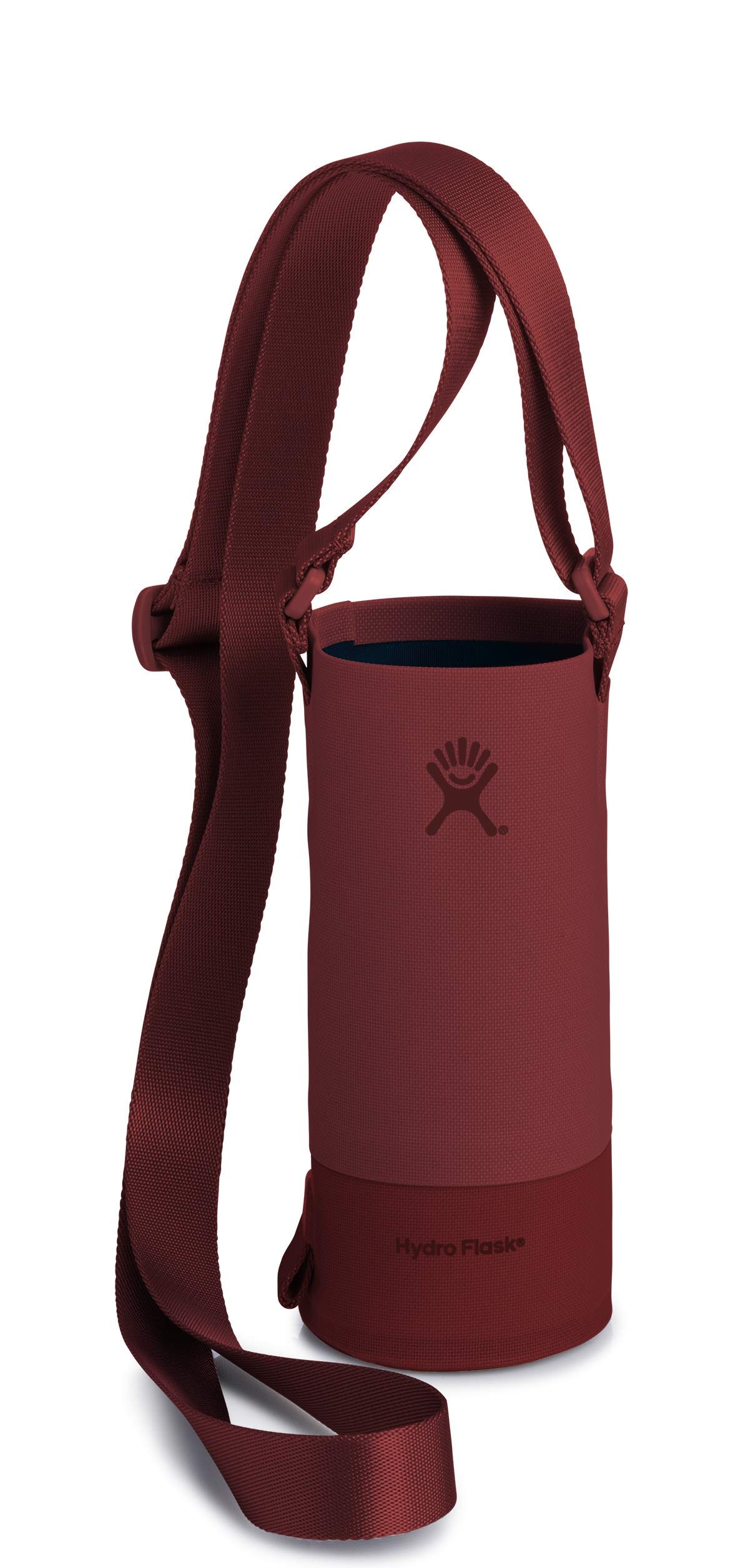 Hydro Flask Small Soft Sided Nylon Tag Along Water Bottle Sling with Pockets, Brick (Fits 12 oz, 18 oz, 21 oz, and 24 oz Bottles)