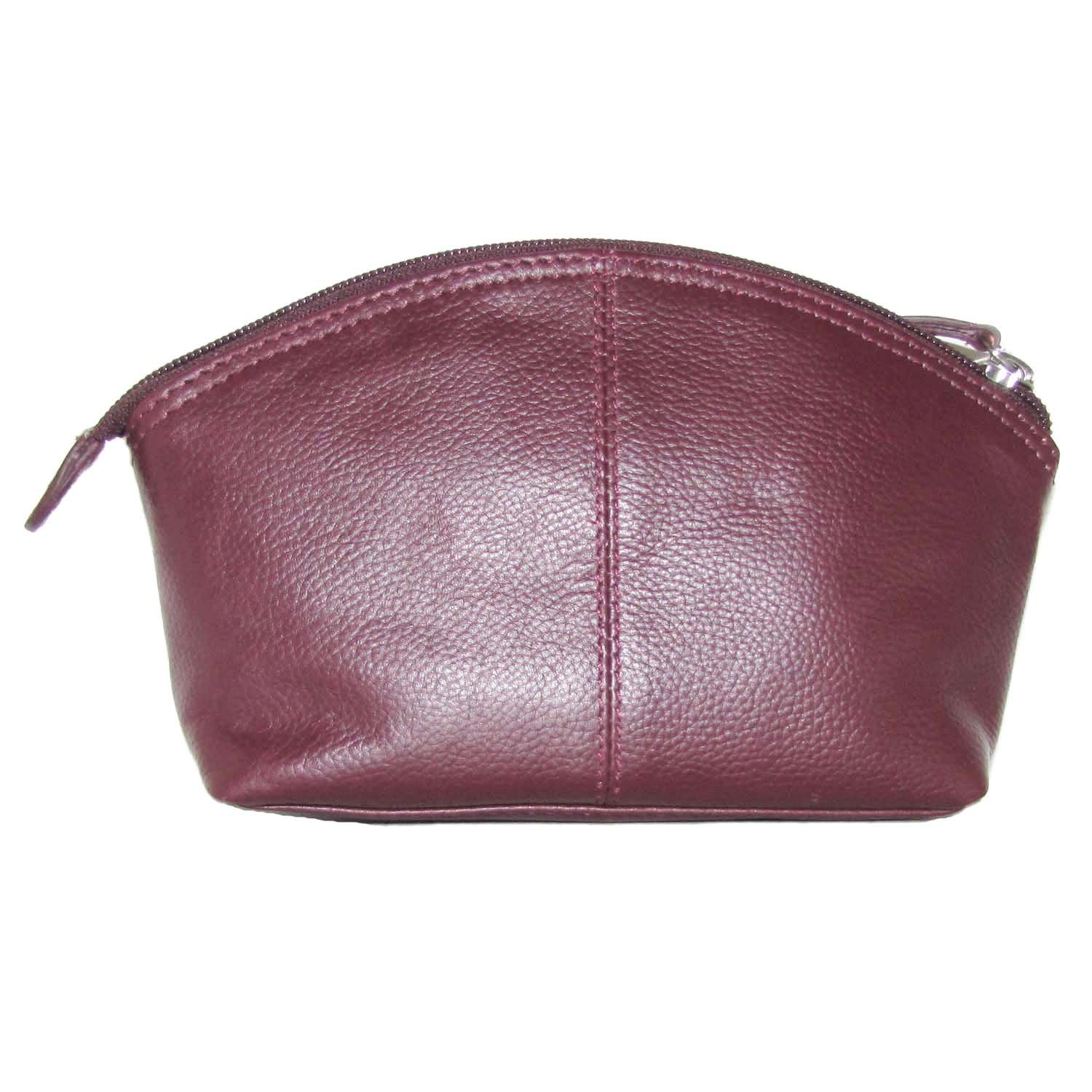Leather Cosmetic Make-up Case (Fine Wine)