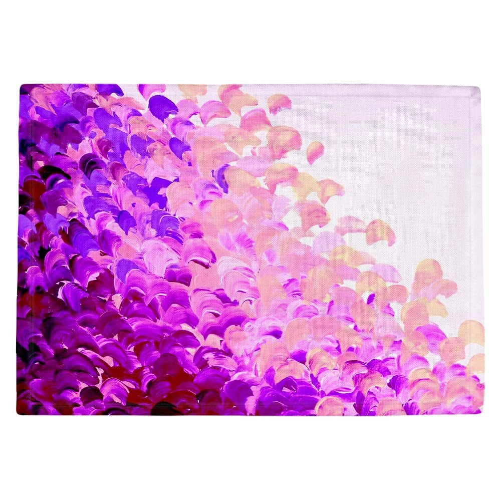 DIANOCHEキッチンPlaceマットby Julia Di Sano – Creationカラーでラベンダー Set of 4 Placemats PM-JuliaDiSanoCreatColorLavender2 Set of 4 Placemats  B01EXSGRB0