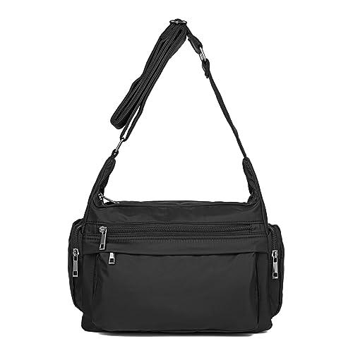 84a444a6d036 ZOOEASS Women Waterproof Nylon Shoulder Bag Corssbody Purse Travel Handbags