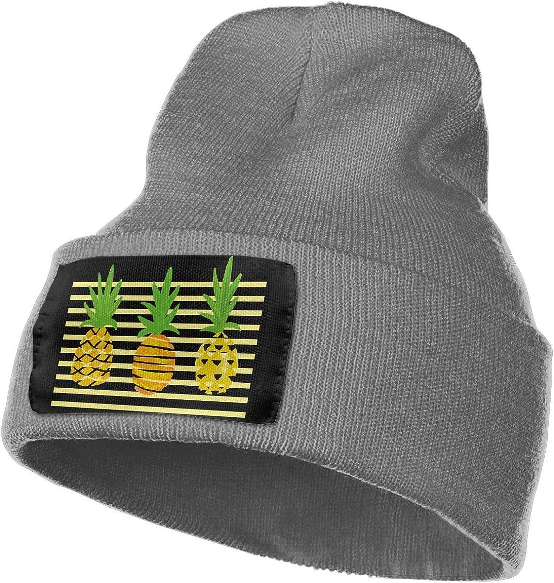 SLADDD1 Abstract Pineapple Warm Winter Hat Knit Beanie Skull Cap Cuff Beanie Hat Winter Hats for Men /& Women