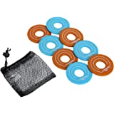 Win SPORTS Replacement Washer Sets for Outdoor Washer Toss Set - Set of 8 Washers - Choose from Steel&Plastic Coated…