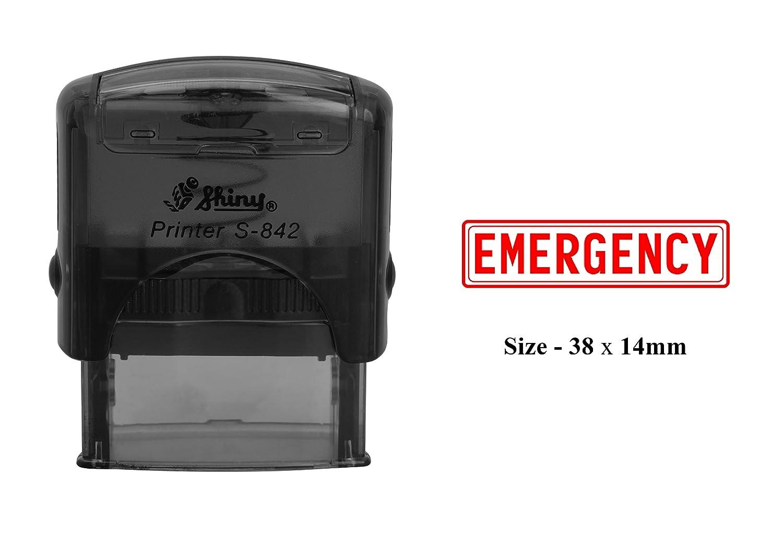 緊急ゴム製スタンプクリアのための印刷オフィス使用Shiny s-842 self-inkingスタンプ 38 x 14 MM レッド  赤インク B079311TMC