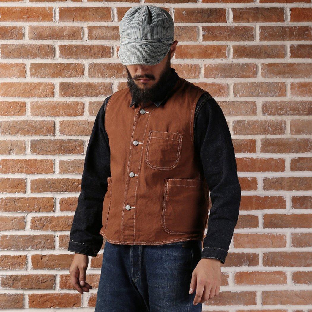 Men's Vintage Workwear – 1920s, 1930s, 1940s, 1950s Bronson 1873 Cotton Nevada Gold Rush Canvas Vest $64.99 AT vintagedancer.com