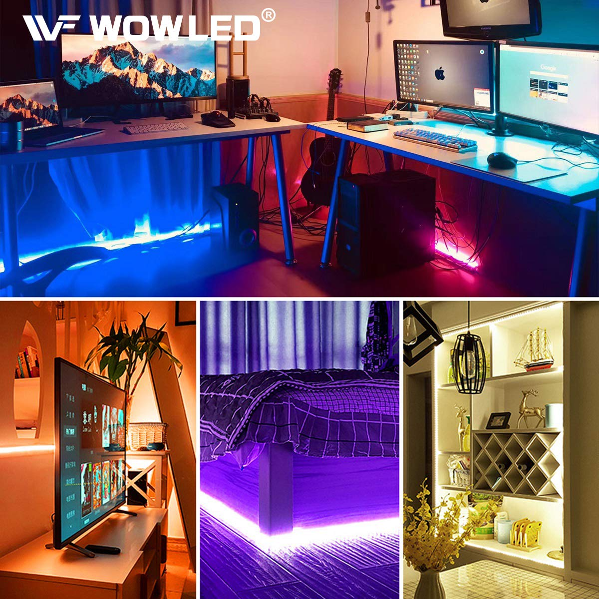 Wowled 10m 4 Pin Extension Connector Cable Cord Wire For 3528 5050 Rgb Led Strip Light