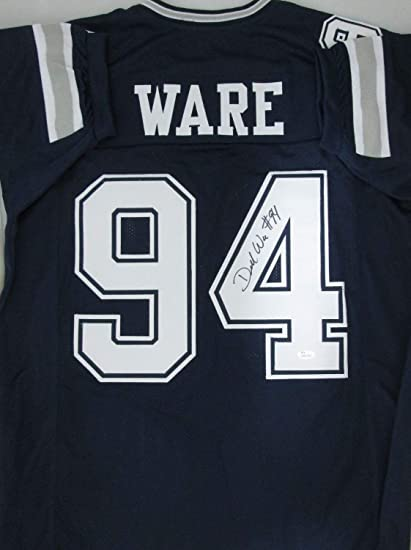 new arrivals 05635 e83fd Cowboys Demarcus Ware Autographed Jersey Signed - 7 X Pro ...