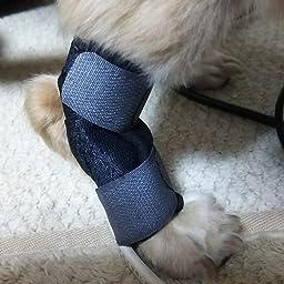 Amazon Cozyswan 犬用関節プロテクター 犬用膝サポーター 足が短い犬に適用 舐め防止 関節保護 術後用品 術後保護 足関節守り 犬骨折治療 ペット用ケア用品 Size S Cozyswan 術後ウェア 通販