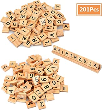 WOWOSS 201Pcs Juguete Educativo de matemáticas Madera Scrabble Número y Carta Reemplazo de Símbolo Juguetes Artesanías y Educación Infantil de Preescolar: Amazon.es: Juguetes y juegos