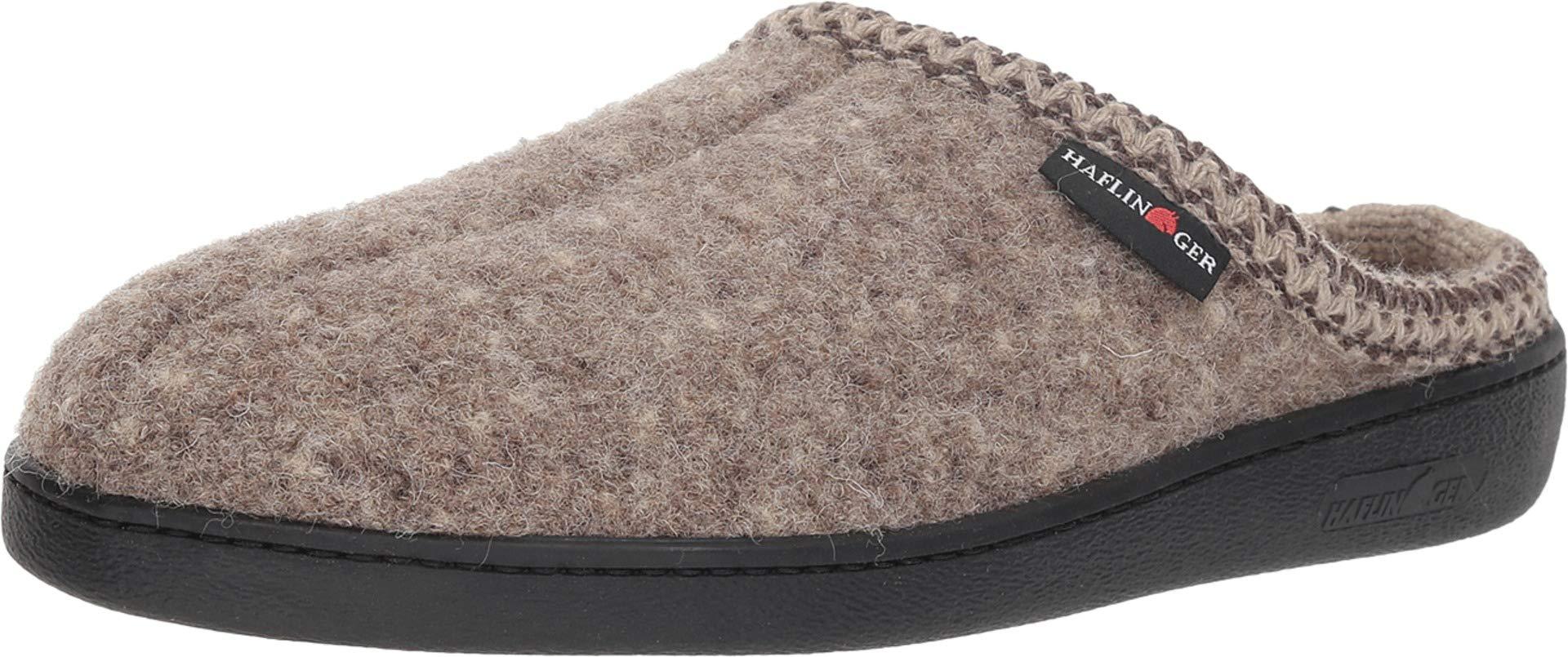 Haflinger Unisex at Boiled Wool Hard Sole Slipper (45 M EU, Natural)