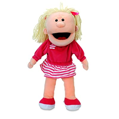 Fiesta Crafts Girl Moving Mouth Hand Puppet: Toys & Games