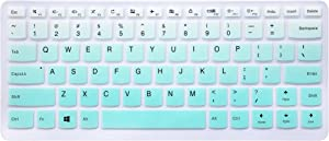 "Silicone Keyboard Cover Skin for Lenovo Yoga 710 14"", Yoga 710 15.6"" 15"", Flex 4 14"", ideapad 110 14"", ideapad 310s 14"", ideapad 510s 14"" Laptop (Ombre Mint Green)"