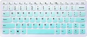 "Silicone Keyboard Cover Skin for Lenovo Yoga 710 14"", Yoga 710 15.6"" 15"", Flex 4 14"", ideapad 110 14"", ideapad 310s 14"", ideapad 510s 14"" Laptop (Ombre Mint Green)"