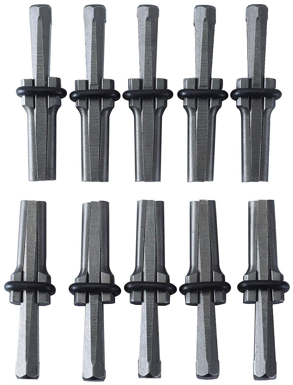 FLK Tech 10 SET 9/16'' Plug Wedges Feather Shims Concrete Rock Stone Splitter Hand Tools 14mm
