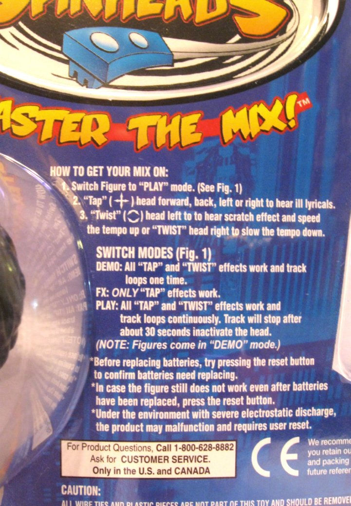 DSI Electronics #59007 from 2003 Rya DJ Skribbles Spinheads