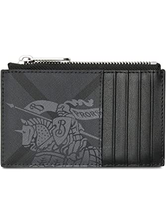 big sale b8768 c30f4 Burberry Equestrian Knight Print and Leather Zip Card Case Wallet at ...