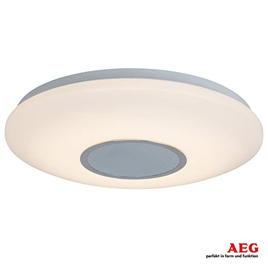 Led ceiling light with bluetooth loud speaker for music dimmable diameter 38 cm