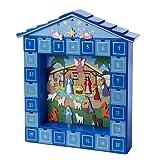 Kurt Adler D1725  Wooden Christmas Nativity Advent Calendar, 14-Inch