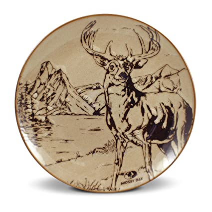 Mossy Oak Animal Print Deer Dinner Plate 11-Inch  sc 1 st  Amazon.com & Amazon.com | Mossy Oak Animal Print Deer Dinner Plate 11-Inch ...