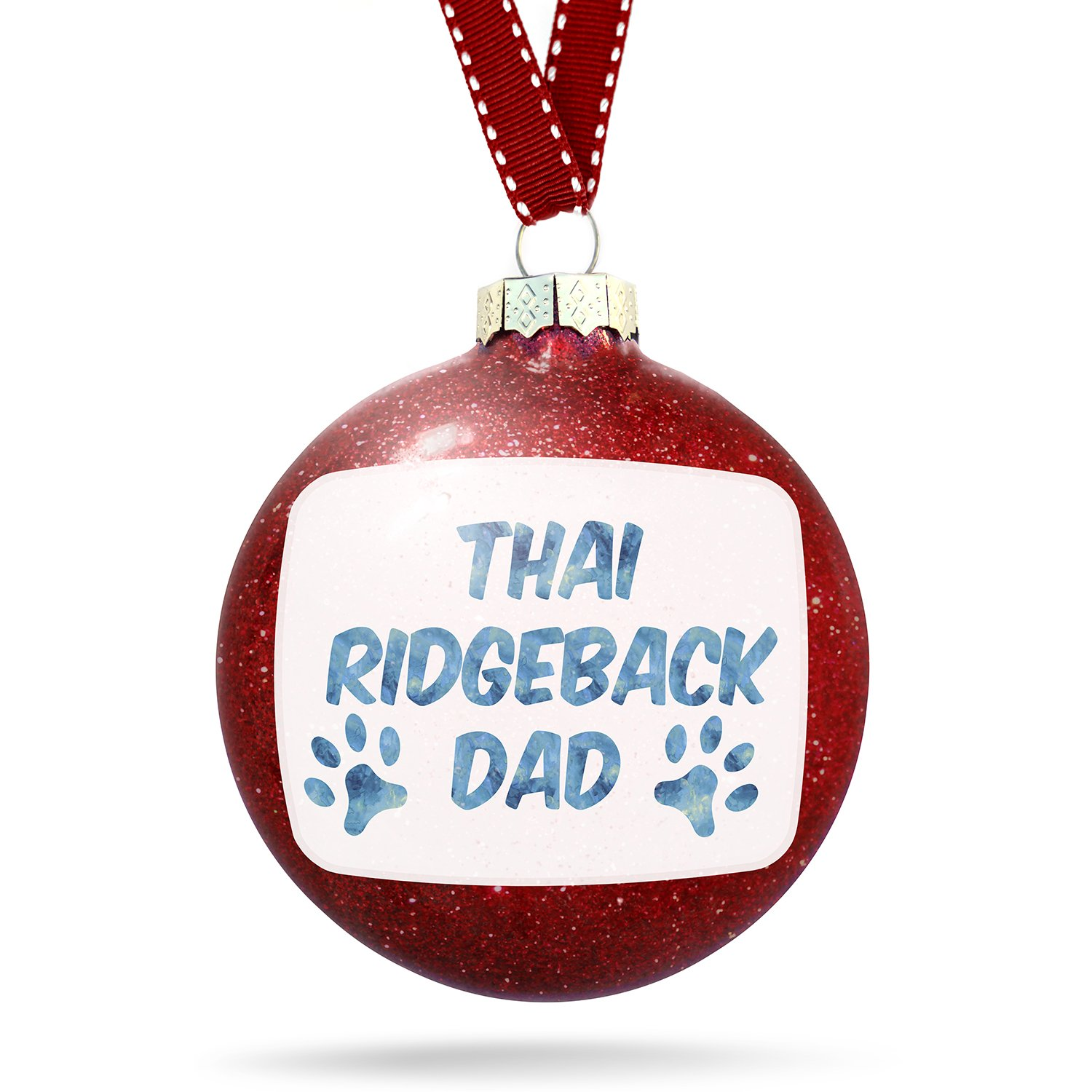 Christmas Decoration Dog & Cat Dad Thai Ridgeback Ornament by NEONBLOND