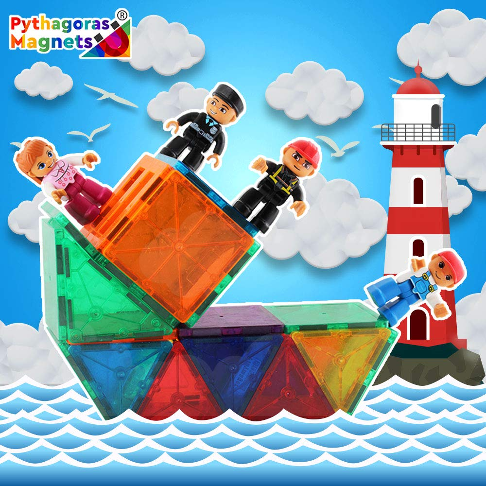 Pythagoras Magnets Entire Collection Includes 3 Magnetic Figure Sets, Car, Helicopter, Motorbike, Plane Sets. Let Your Kids Imaginations Have No Limits by Pythagoras Magnets (Image #2)