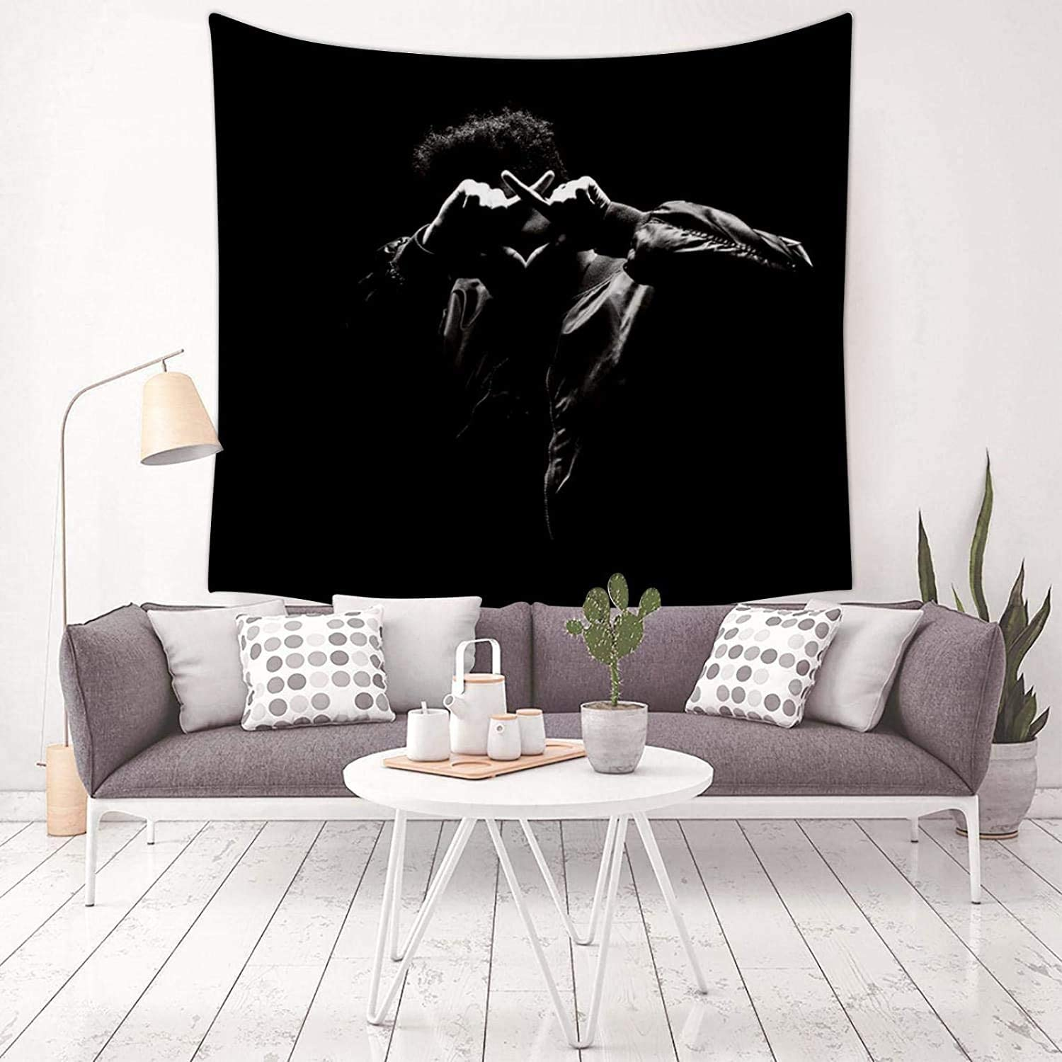 Egoooods X-O The Week-nd Tapestry Wall Hanging Light and Easy to Hang Art Tapestry Decorating The Living Room
