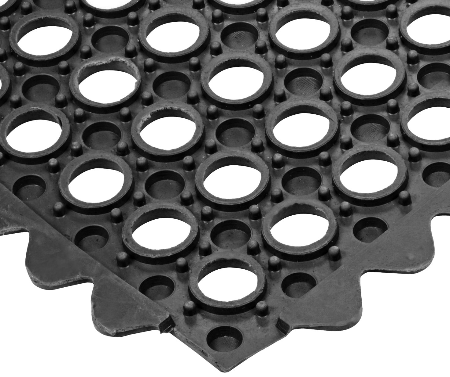 for Wet Areas Black 3 Width x 3 Length x 1//2 Thickness NoTrax T32 General Purpose Rubber Safety//Anti-Fatigue Ultra Mat