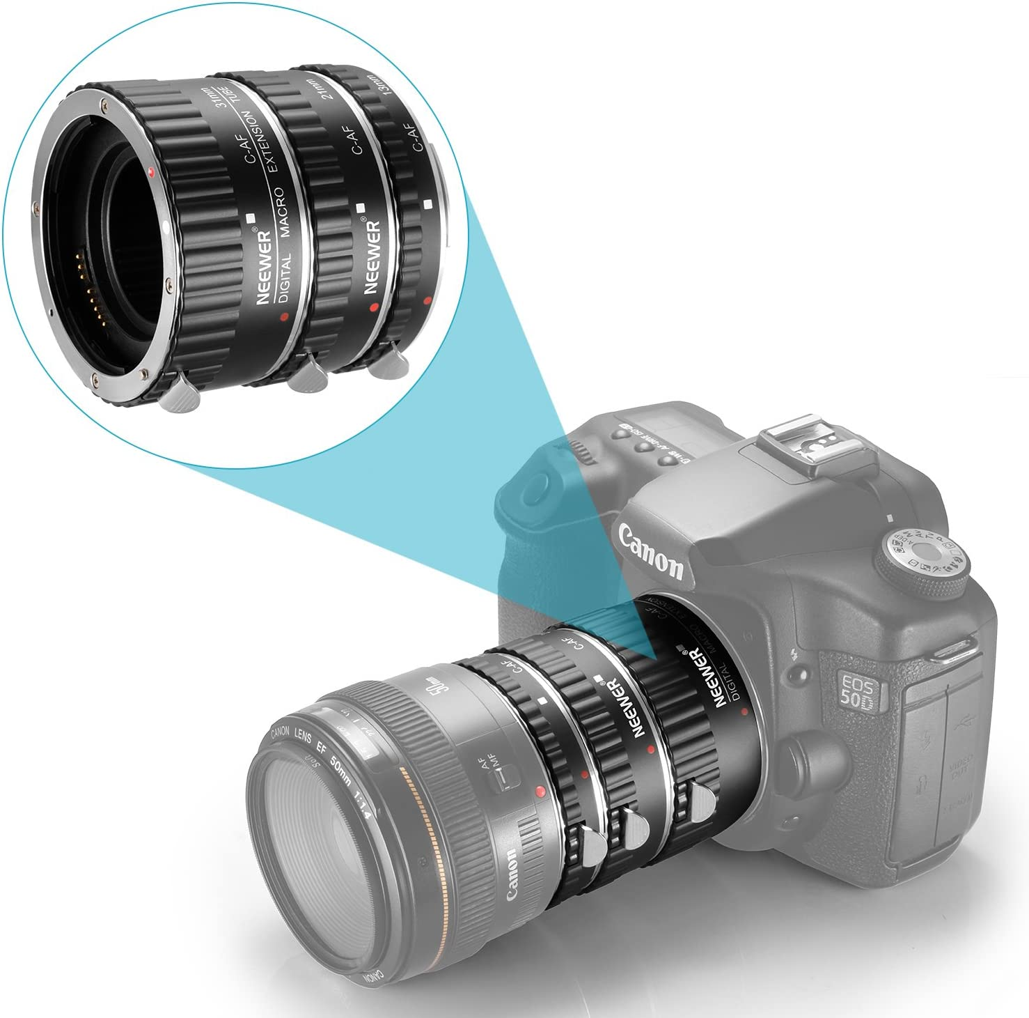 Yangers Macro Extension Tube Set Autofocus Ring Close up Lens for ...