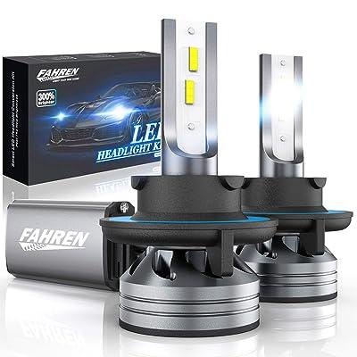 Fahren 9008/H13 LED Headlight Bulbs, 60W 12000 Lumens Super Bright LED Headlights Conversion Kit 6500K Cool White IP68 Waterproof, Pack of 2: Automotive