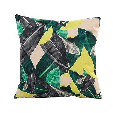 Funda de Almohada, Cojín Tropical Verde Hojas de Planta Manta Funda de Almohada para sofá Coche decoración para el hogar