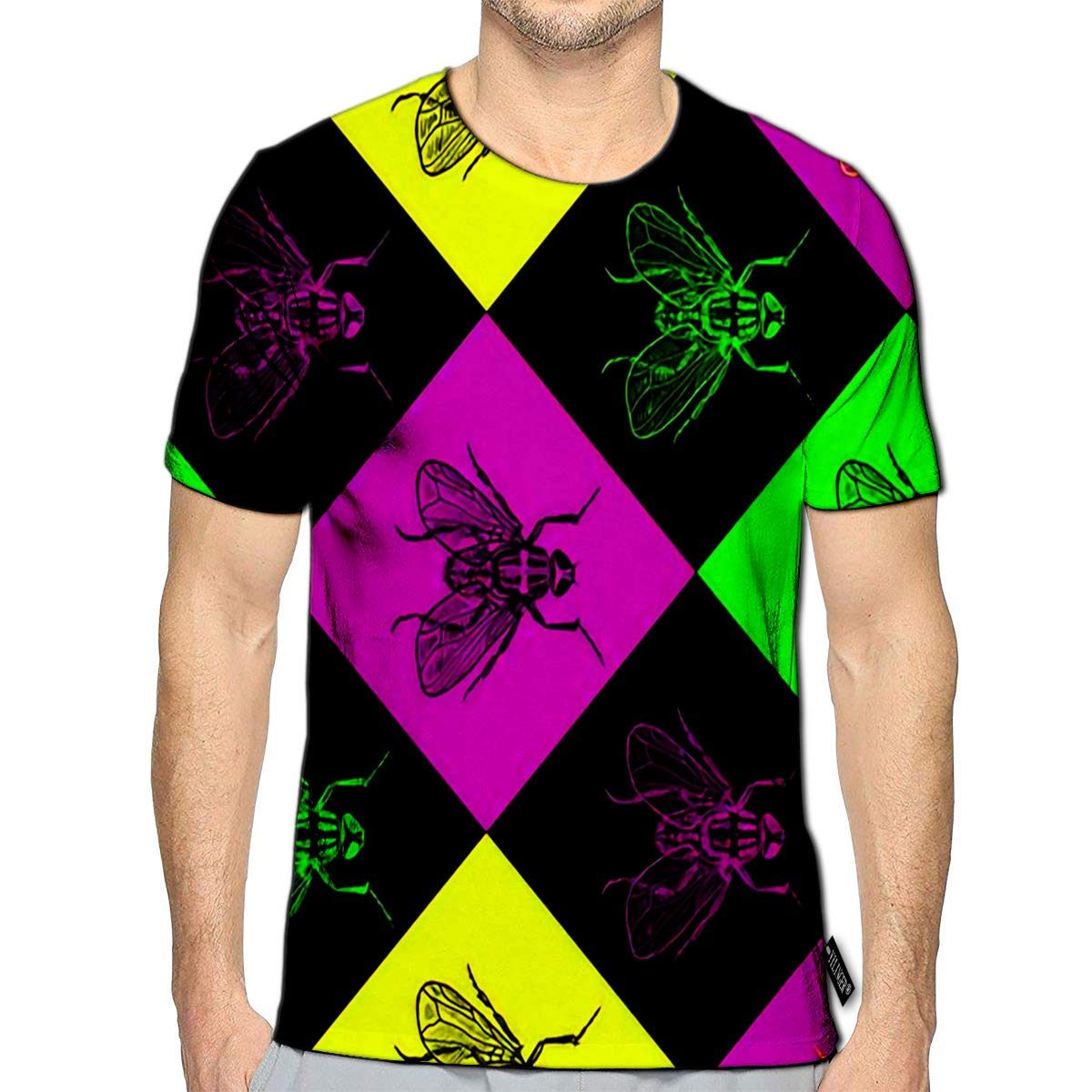 3D Printed T-Shirts Tribal Forest Animals in Blue Short Sleeve Tops Tees