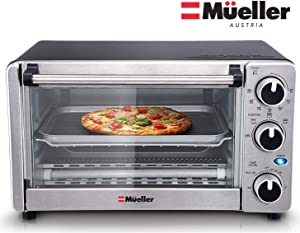 Toaster-Oven-4-Slice,-Multi-function-Stainless-Steel-Finish-with-Timer