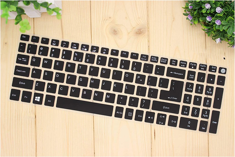 15.6 Inch Keyboard Cover Protector for Acer Aspire E15 E 15 E5 576 E5576 V3 V15 E5 553G/575G/Aspire 3 5 7 Serie,Black