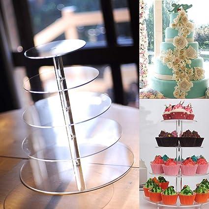 Buy Kewholesale 5 Tier Acrylic Cupcake Cake Stand Party Wedding