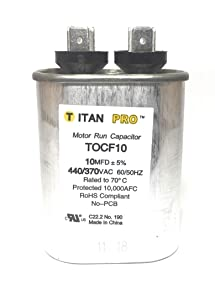 Packard TOCF10 10 MFD 440/370V OVAL Capacitor