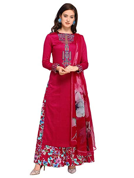 9898062e83 AKHILAM Women's Cotton Blend Embroidered Unstitched Salwar Suits Salwar Suit  Material With Palazzo Set (Maroon_Free Size): Amazon.in: Clothing &  Accessories