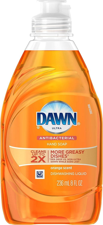 Dawn Ultra Antibacterial Dishwashing Liquid 7oz. Orange Scent (Orange)