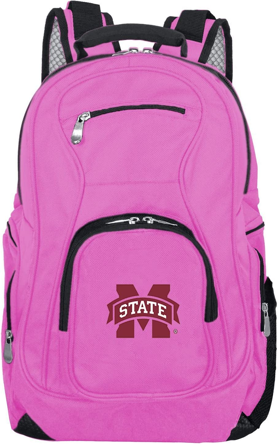 Denco NCAA Unisex-Adult NCAA Voyager Laptop Backpack Pink 19-inches