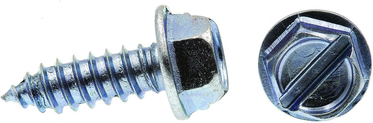 Pack of 75 14 X 3//4 in Self-Tapping Zinc Plated Steel Prime-Line 9025951 Sheet Metal Screw Slotted Hex Washer Head