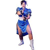 DAZCOS Superior Street Fighter de Chun Li Cosplay Costume [Adulto/niño]