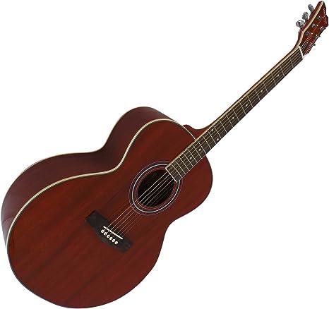 Guitarra acústica cuerdas de acero tamaño completo Jumbo cuerpo Pack de 4/4 de madera de caoba: Amazon.es: Instrumentos musicales
