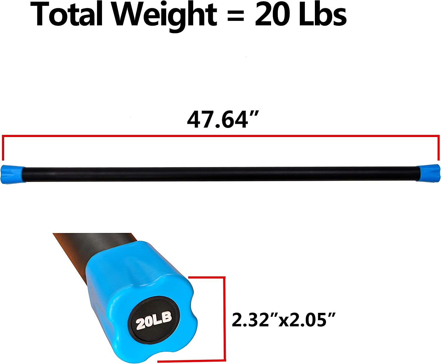 Everyday Essentials Total Body Workout Weighted Bar Weighted Workout Bar Weighted Exercise Bar