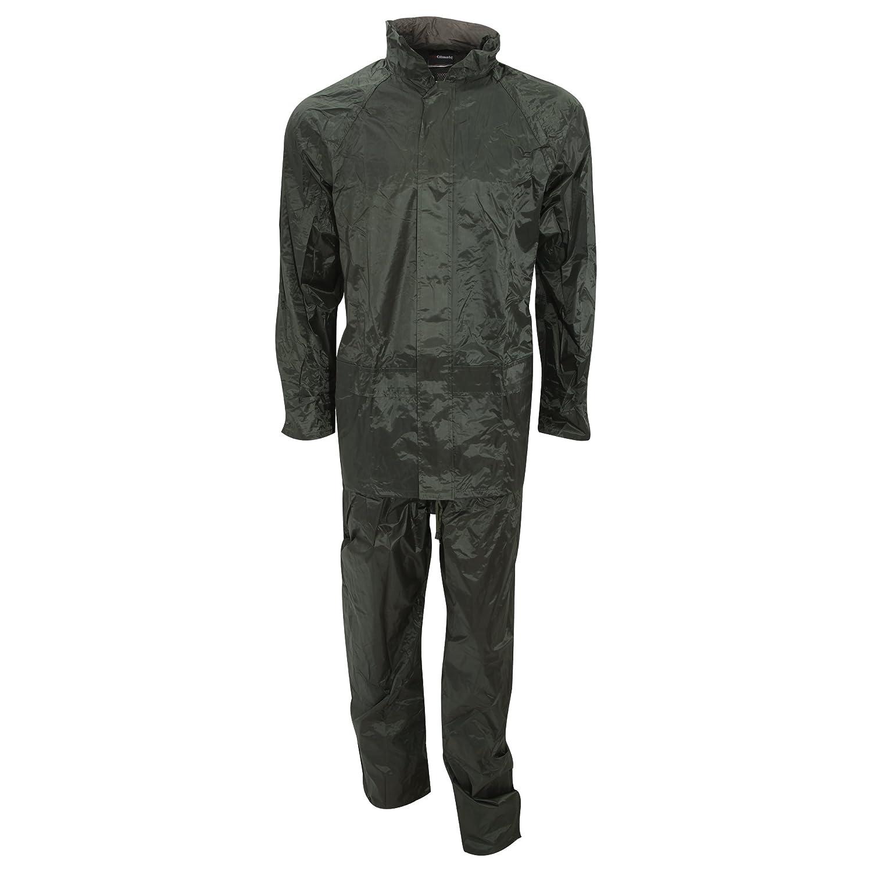 Proclimateメンズ防水パックAway Rain Suit (パンツとジャケットセット B0197PGGEW オリーブ S