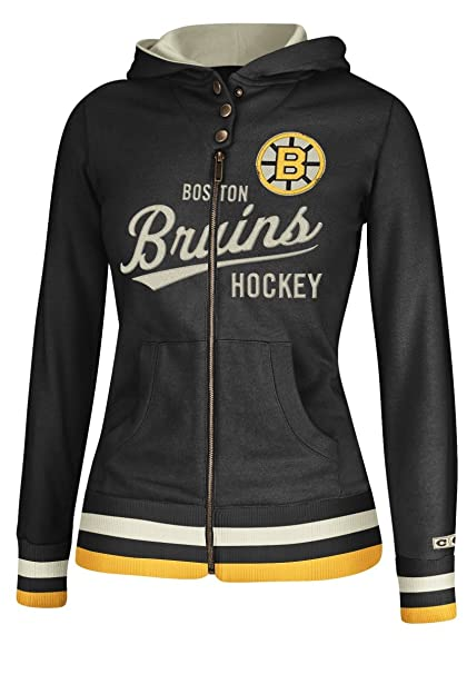 Amazon Com Boston Bruins Women S Nhl Full Zip Hooded Ccm