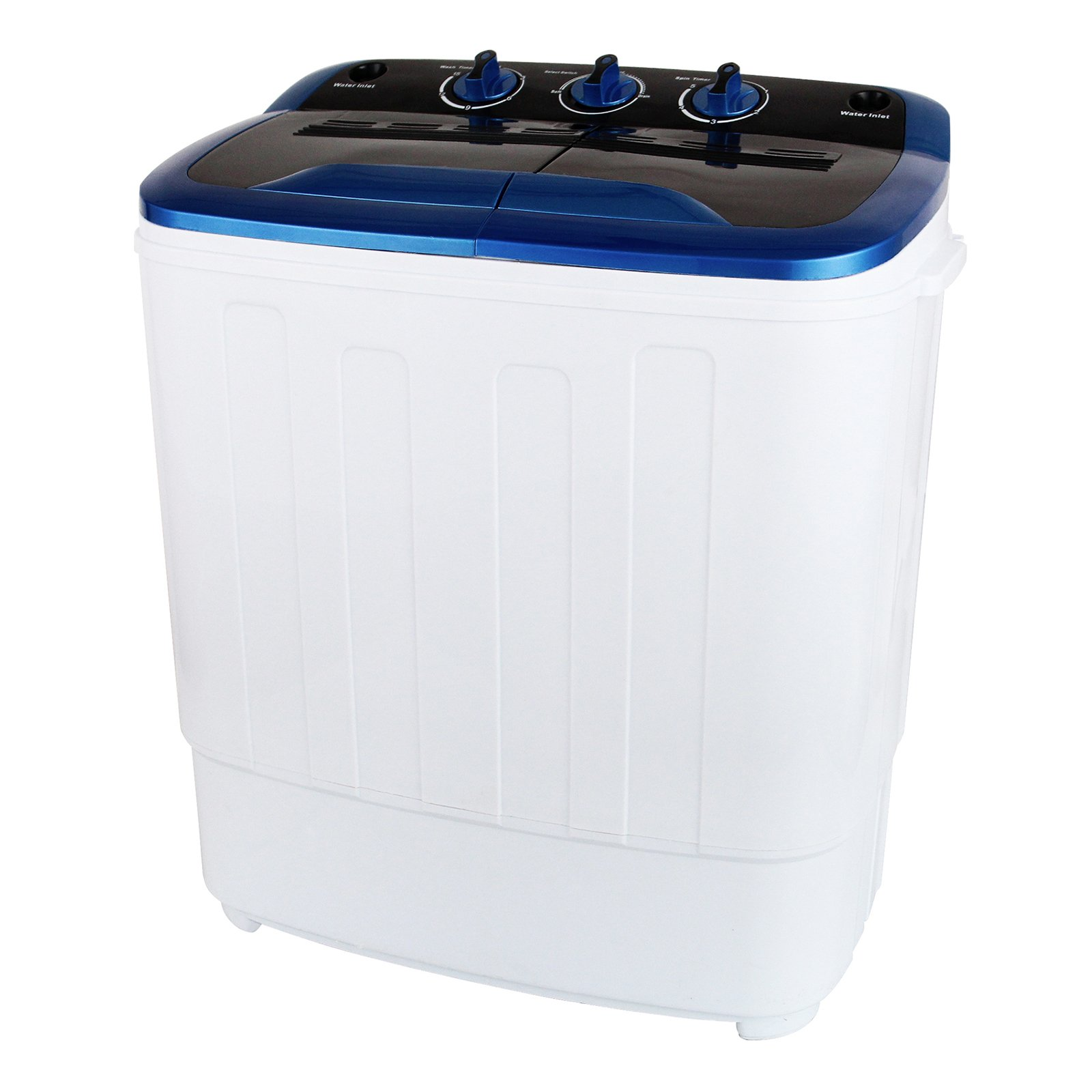 KUPPET 13Ibs Portable Mini Compact Twin Tub Washing Machine Washer Spin Dryer, Ideal for Dorms, Apartments, RVs, Camping etc, White & Blue