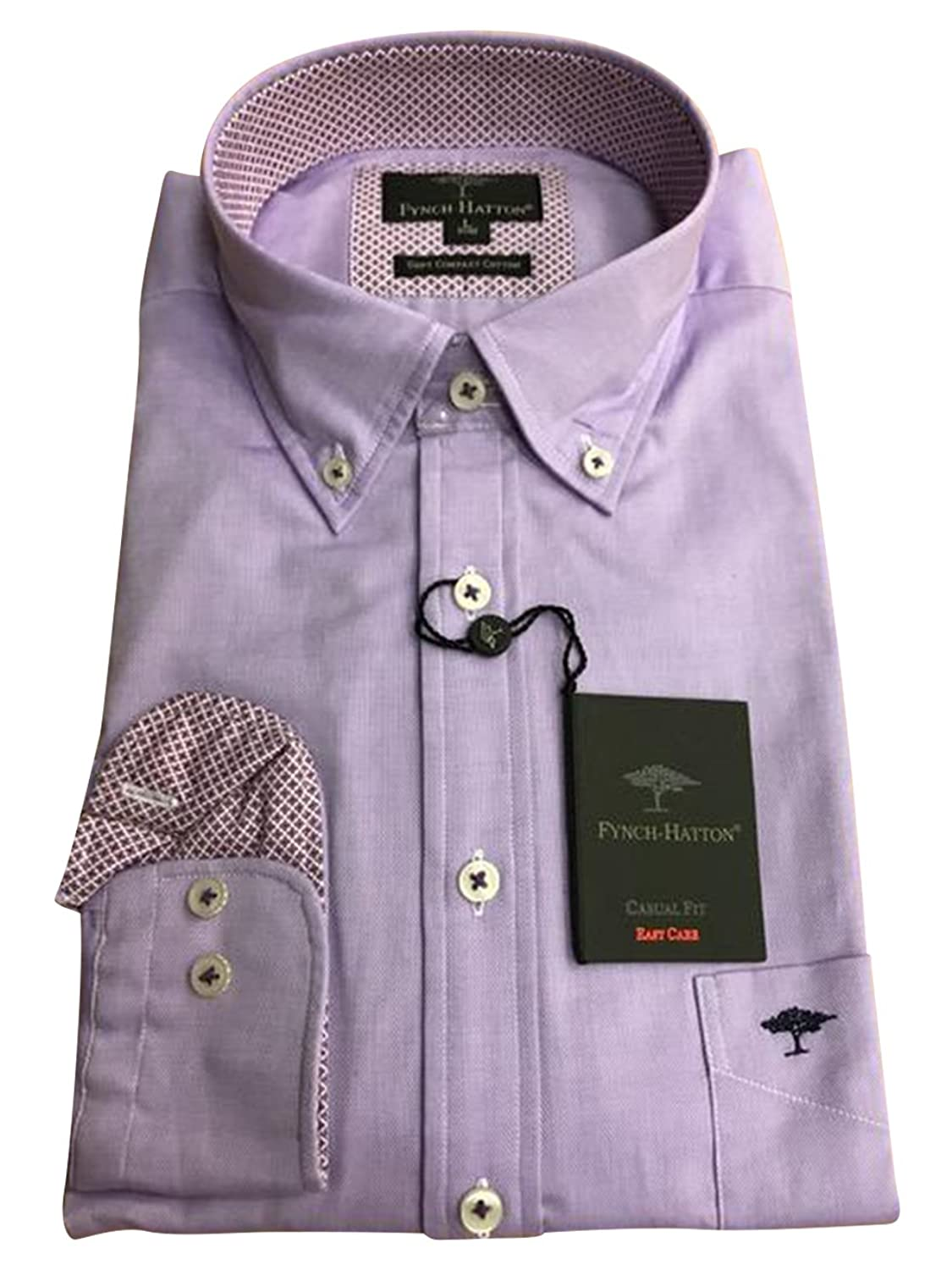 FYNCH-HATTON Men's Button Down Long Sleeve Casual Shirt