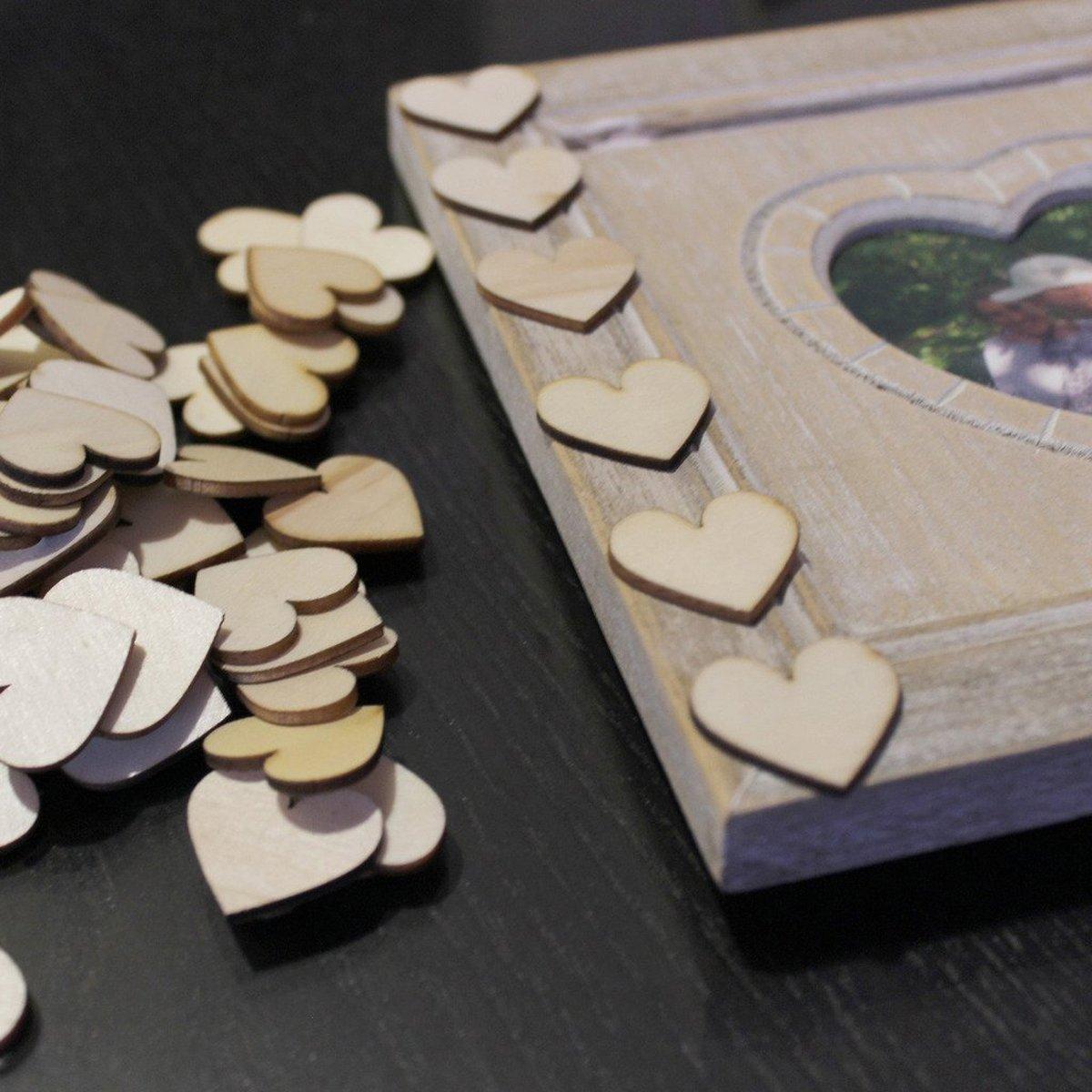 Butterme 50//100PCS multiformats marqu/és disques en bois de bijoux de coeur Blank Artisanat Couture pour le mariage DIY 20mm, 30mm, 40mm