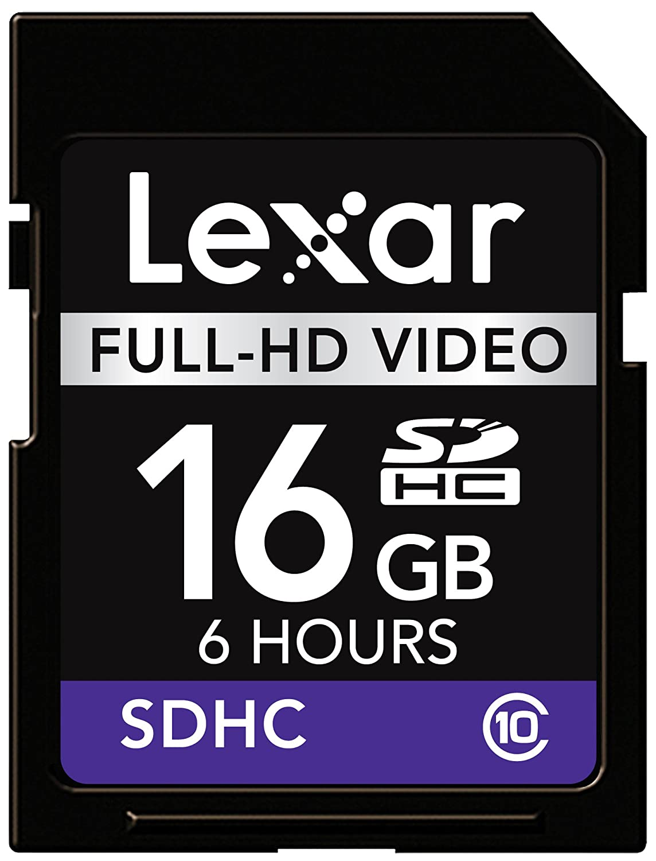 Lexar - Tarjeta de Memoria 16 GB (Tarjeta de vídeo SDHC Full-HD)