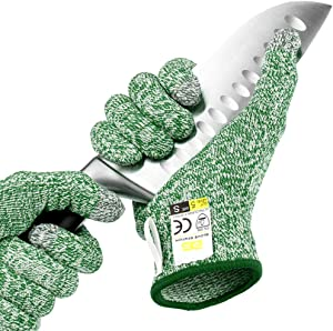 Glove Station Ultra Durable Series Cut Resistant Gloves - High Performance Level 5 Protection, Food Grade (Large, Mint Green)