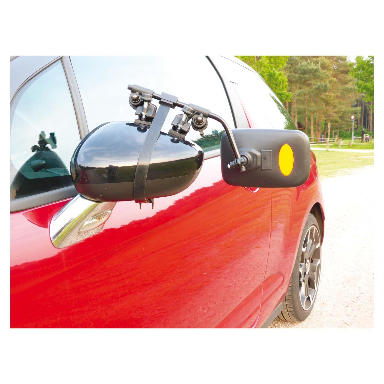 Extra Grande Adicional Calavera de ángulo de espejo para coches, caravanas y camiones con rosca para pinzas de sistema (sitzt Bombas fijo) y sencillo ...